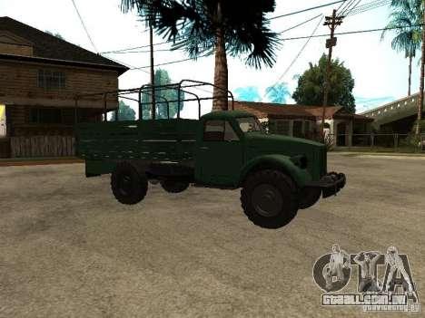 GÁS 63A para GTA San Andreas traseira esquerda vista