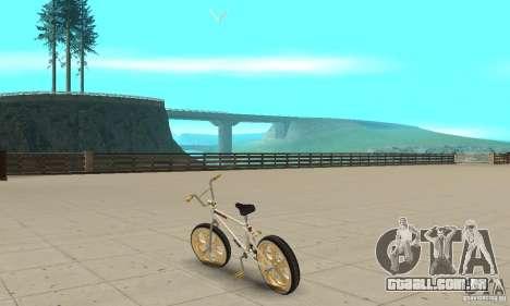 Spin Wheel BMX v2 para GTA San Andreas traseira esquerda vista