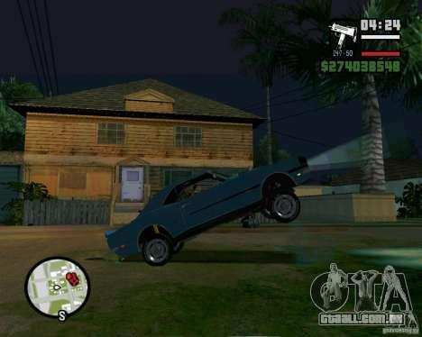 Capacidade de levantar o carro para o buck para GTA San Andreas terceira tela
