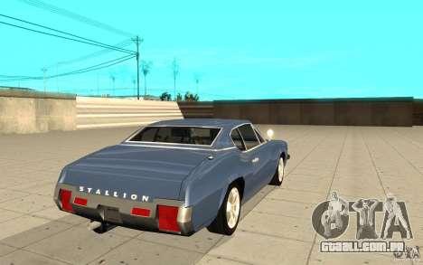 Garanhão do GTA 4 para GTA San Andreas traseira esquerda vista
