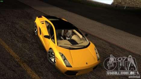 Lamborghini Gallardo SE para GTA San Andreas vista interior