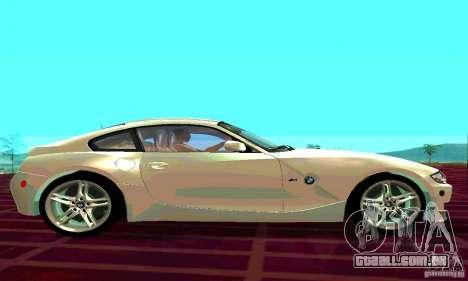 BMW Z4 E85 M para GTA San Andreas vista traseira