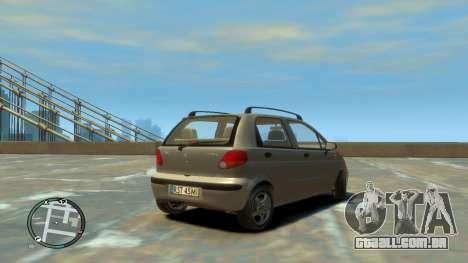 Daewoo Matiz Style 2000 para GTA 4 traseira esquerda vista