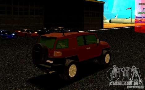Toyota FJ Cruiser para GTA San Andreas vista direita
