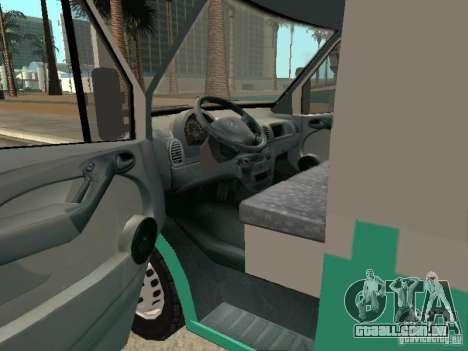 Mercedes Benz Sprinter SAME para GTA San Andreas traseira esquerda vista