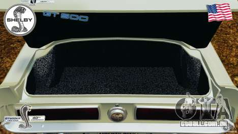 Shelby GT 500 para GTA 4 vista lateral