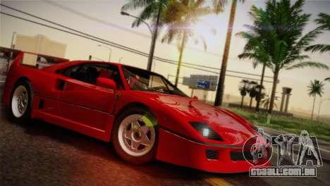 Ferrari F40 1987 para as rodas de GTA San Andreas