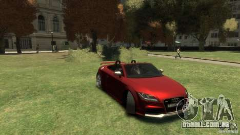 Audi TT RS Roadster para GTA 4 vista direita