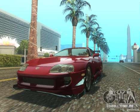 Toyota Supra Light Tuned para GTA San Andreas esquerda vista