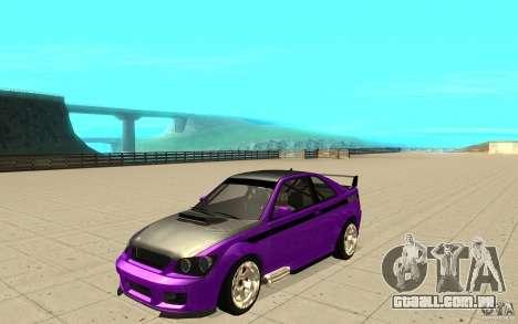 GTA IV Sultan RS FINAL para vista lateral GTA San Andreas