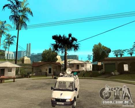 Canal de notícias de gazela 2705 para GTA San Andreas vista traseira