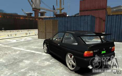 Ford Escort Cosworth para GTA 4 traseira esquerda vista