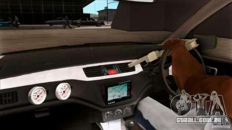 Mitsubishi Lancer Evo VII 2F2F para GTA San Andreas vista interior