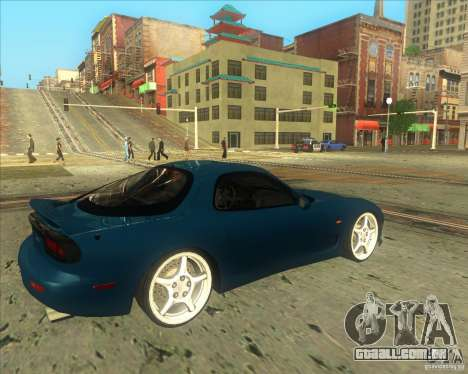 Mazda RX 7 para GTA San Andreas vista direita
