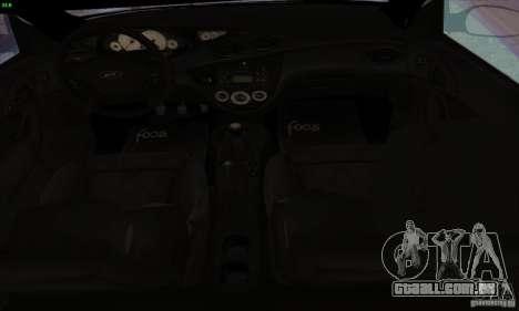 Ford Focus SVT TUNEABLE para GTA San Andreas vista traseira