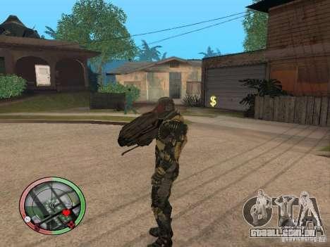 Armas alienígenas de Crysis 2 v2 para GTA San Andreas por diante tela