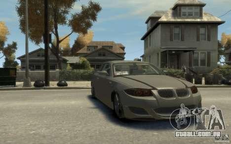 BMW 135i para GTA 4 vista de volta