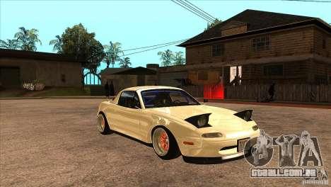 Mazda Miata JDM para GTA San Andreas vista traseira