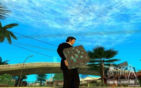 Minério de diamante do jogo Minecraft para GTA San Andreas segunda tela