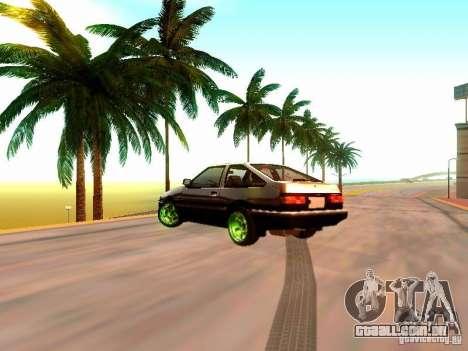 Toyota Corolla Carib AE86 para GTA San Andreas esquerda vista
