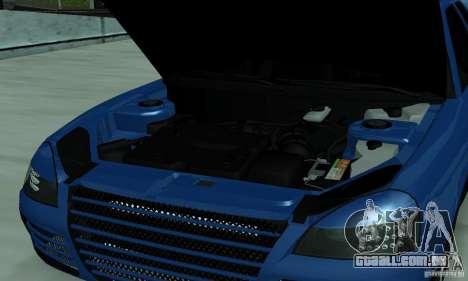 Lada Priora 2012 para GTA San Andreas vista interior