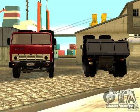 KAMAZ 55111 para GTA San Andreas vista traseira