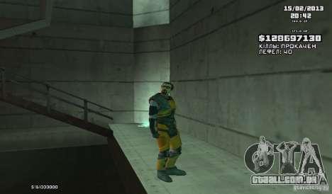 Gordon Freeman para GTA San Andreas segunda tela