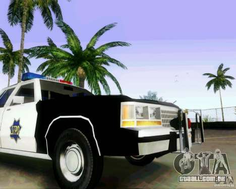 Ford Crown Victoria LTD 1991 SFPD para GTA San Andreas vista traseira