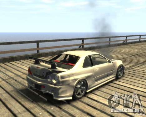 Nissan Skyline GT-R34 Nismo para GTA 4 vista direita