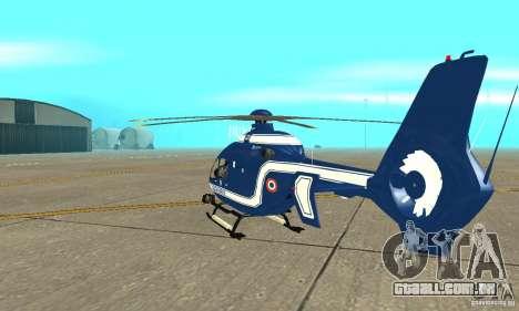 EC-135 Gendarmerie para GTA San Andreas vista direita