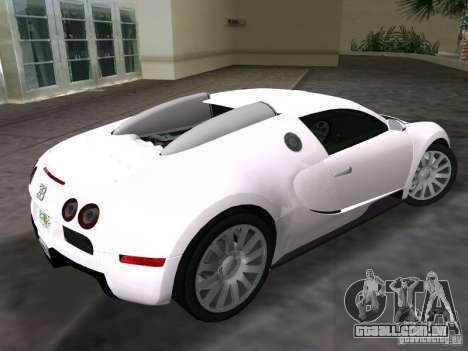 Bugatti Veyron EB 16.4 para GTA Vice City deixou vista