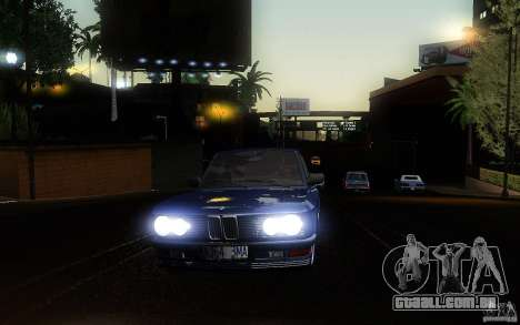 BMW E28 525e ShadowLine Stock para GTA San Andreas vista interior