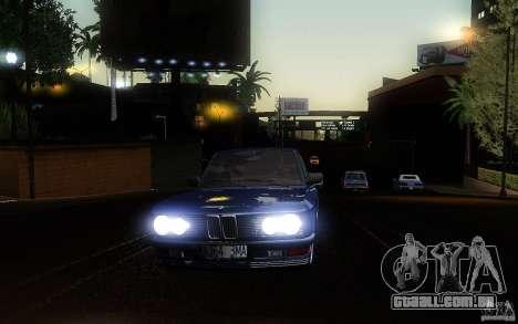 BMW E28 525e ShadowLine Stock para GTA San Andreas vista interior