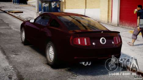 Ford Shelby GT500 2010 para GTA 4 vista lateral