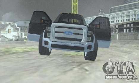 FORD F450 SUPER DUTE para GTA San Andreas vista traseira