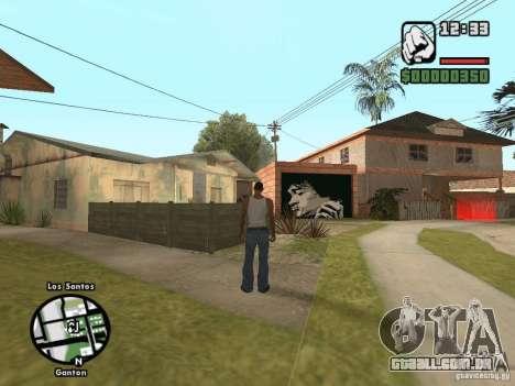 Džonsonov casa nova para GTA San Andreas terceira tela