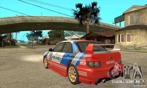 Subaru Impreza WRX STI 2006 para GTA San Andreas vista traseira
