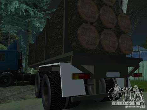 Reboque de madeira para trator para GTA San Andreas