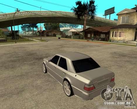 Mercedes-Benz W124 E500 95 para GTA San Andreas esquerda vista