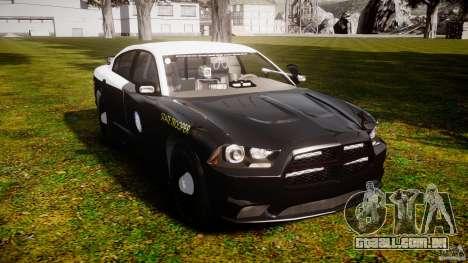Dodge Charger 2012 Florida Highway Patrol [ELS] para GTA 4 vista direita