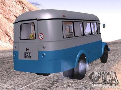 KAVZ 651A para GTA San Andreas esquerda vista