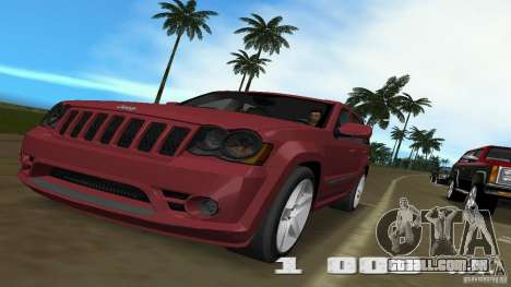 Jeep Grand Cherokee para GTA Vice City vista traseira