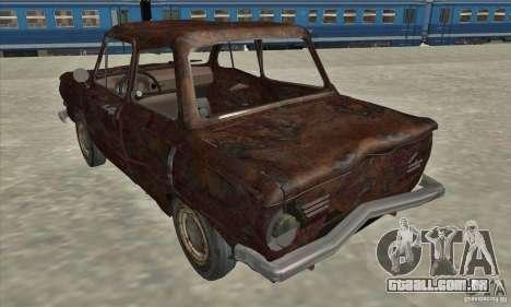 ZAZ 968 abandonado v. 2 para GTA San Andreas vista direita