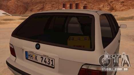 BMW M3 E36 Touring para GTA San Andreas vista interior