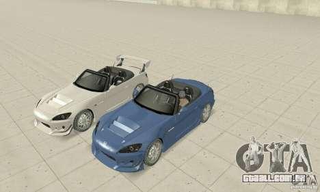 Honda S2000 Cabrio West Tuning para GTA San Andreas