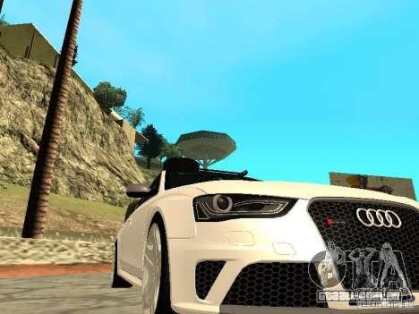 Audi RS4 Avant B8 2013 para GTA San Andreas vista direita