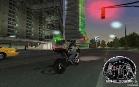 Ducati 1098R para GTA San Andreas traseira esquerda vista