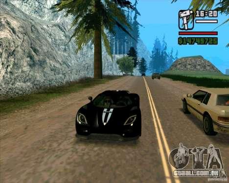 Koenigsegg Agera para GTA San Andreas