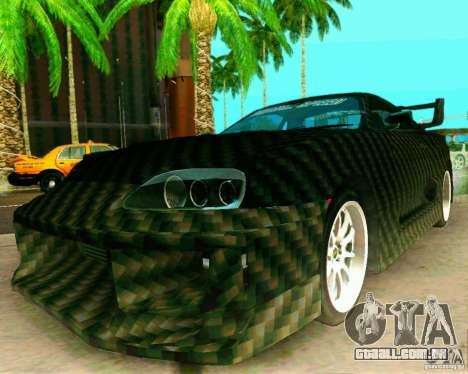 Toyota Supra Carbon para GTA San Andreas vista direita