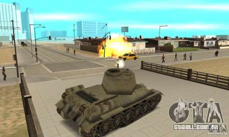 Tanque T-34-85 para GTA San Andreas vista direita